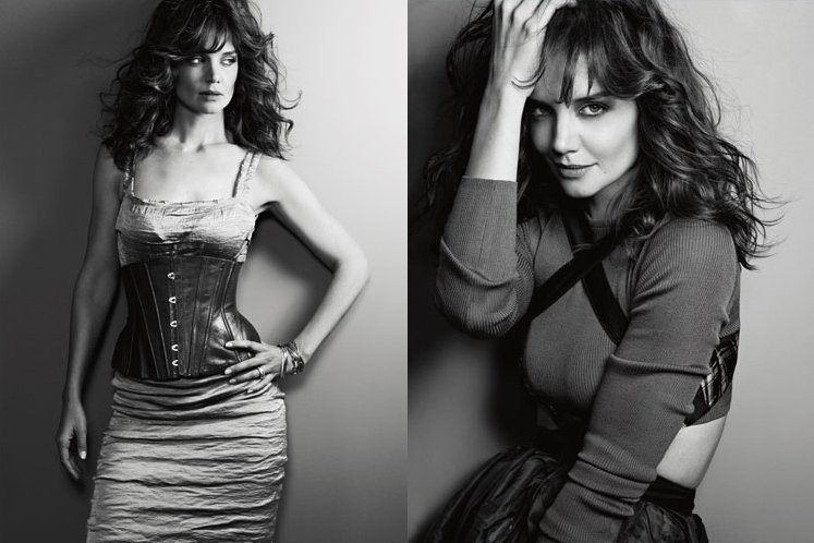 Katie-Holmes-poarta-creatii-Lanvin-Jean-Paul-Gaultier-si-Proenza-Schouler-in-revista-Marie-Claire-US-octombrie-2010