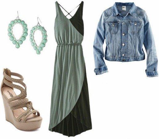 maxi-dress-denim-jacket-sandals