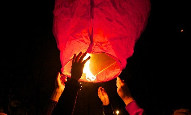 Launch of Chinese lantern