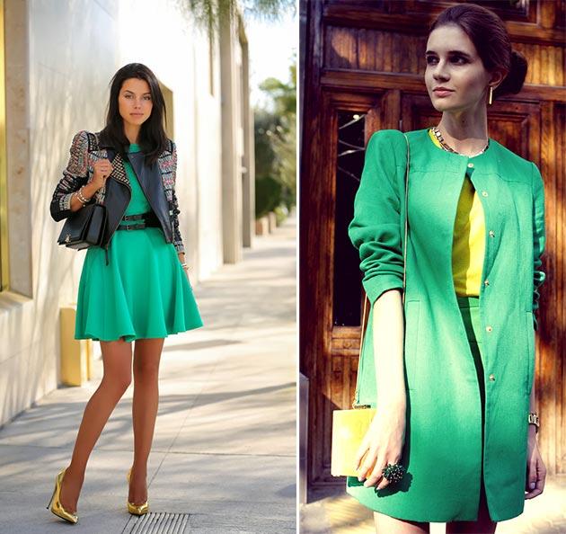 culori brunete+verde