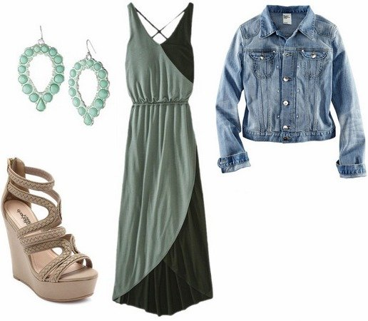 maxi-dress-denim-jacket-sandals