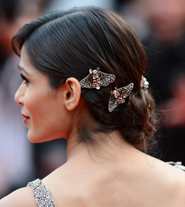 Frieda Pinto - Embellished Low Updo