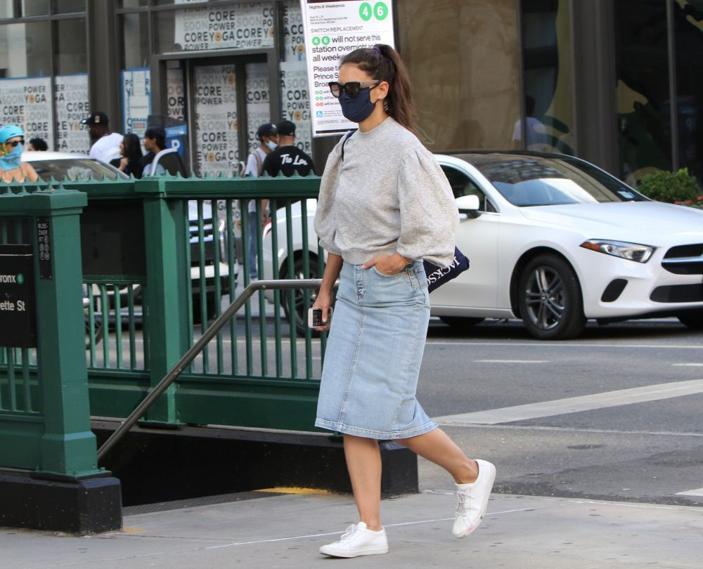 Actress Katie Holmes in Soho, Manhattan. 19/08/2020